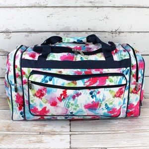 "Handbags - Floral Pastels Duffle Bag- 23"" inch"